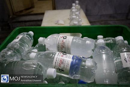 تهیه  توزیع مواد ضد عفونی کننده توسط سازمان بسیج سازندگی