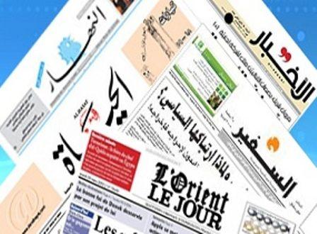 مهمترین عناوین امروز شنبه روزنامه های لبنان