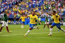 نتیجه بازی برزیل و مکزیک در جام جهانی/ صعود برزیل به یک چهارم نهایی