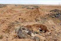 کشف یک گور دسته جمعی در استان رقه