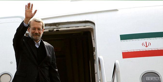 لاریجانی تهران را به مقصد اسلام آباد ترک کرد