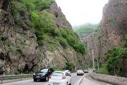 بارش باران در جاده های ۳ استان کشور
