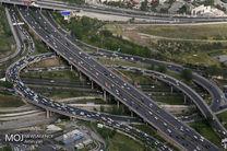 وضعیت ترافیکی بزرگراههای تهران در 18 اردیبهشت