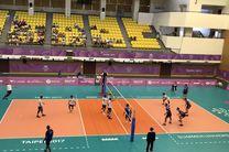 پیروزی تیم والیبال دانشجویان ایران مقابل قبرس