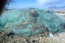 2 هزار متر تور ماهیگیری از زاینده رود در چادگان جمع آوری شد