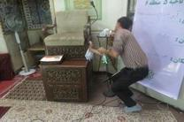 در آستانه ماه مبارک رمضان مساجد ناحیه 5 غبار روبی شد