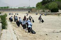 پاکسازی بستر رودخانه زاینده رود در خمینی شهر