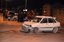 برخورد دو خودرو سواری در خیابان زیباکنار حادثه آفرید