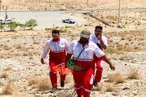 نجات جان مصدوم 20 ساله در ارتفاعات شیرکوه