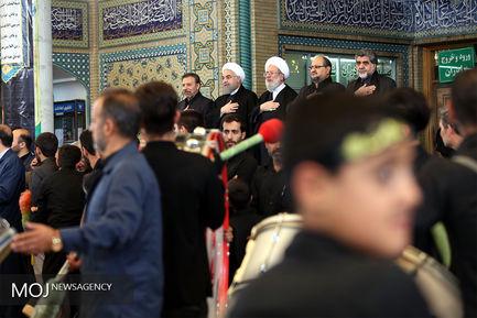 مراسم عزاداری روز عاشورا در حرم شاه عبدالعظیم