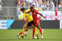 نتیجه بازی سوئد و انگلیس در جام جهانی/ صعود مقتدرانه انگلیس به نیمه نهایی