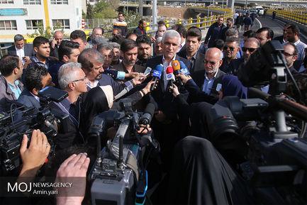 سید محمد علی افشانی شهردار تهران در جمع خبرنگاران