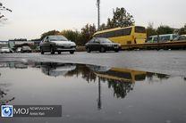 بارش برف و باران در جادههای ۱۰ استان کشور