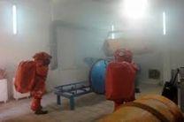 کنترل نشت گاز آمونیاک در کشتارگاه طیور خاش