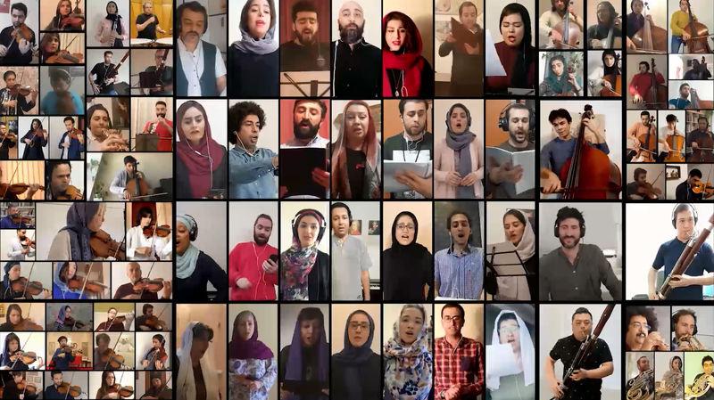 انتشار اجرای خانگی ۱۷۰ نوازنده وخواننده بین المللی برای ارکستر سمفونیک تهران