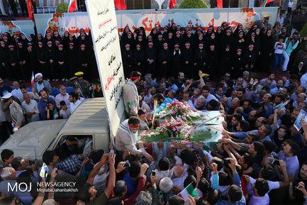 تشییع پیکر مطهر شهدای دفاع مقدس در اصفهان