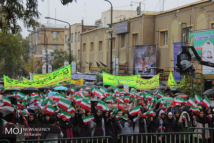 راهپیمایی روز ۱۳ آبان در سنندج