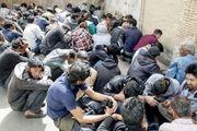 دستگیری 35 معتاد متجاهر درقشم