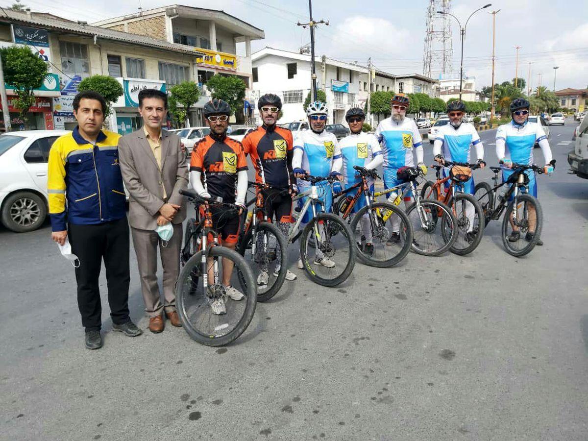 ورود کاروان دوچرخه سواران حرم تا حرم به شهرستان چالوس