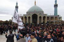 عزاداری هیأتهای مذهبی در امامزاده آقا علی عباس (ع) در کاشان