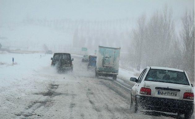 بارش برف در 9 استان/ کولاک و یخ زدگی در سه استان