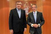 دیدار رئیس سازمان انرژی اتمی ایران با گروسی و لیخاچیوف
