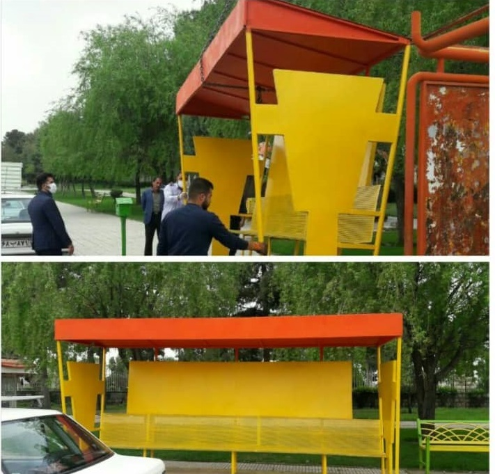 24 ایستگاه اتوبوس در کرمانشاه نوسازی شده است