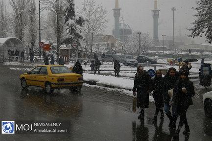 بارش+برف+زمستانی+در+تهران