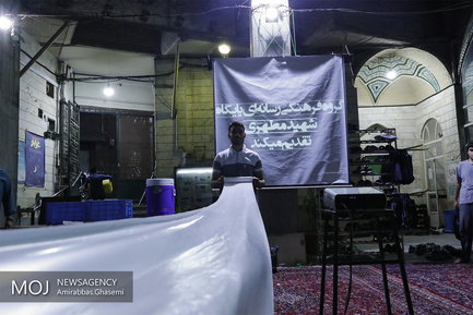 افطار ساده در مسجد منشور در خیابان امام خمینی (ره)