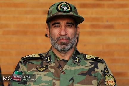 صبحگاه مشترک دانشجویان دانشگاه افسری نیروهای مسلح/امیر سرتیپ علی جهانشاهی معاون هماهنگ کننده نیروی زمینی ارتش