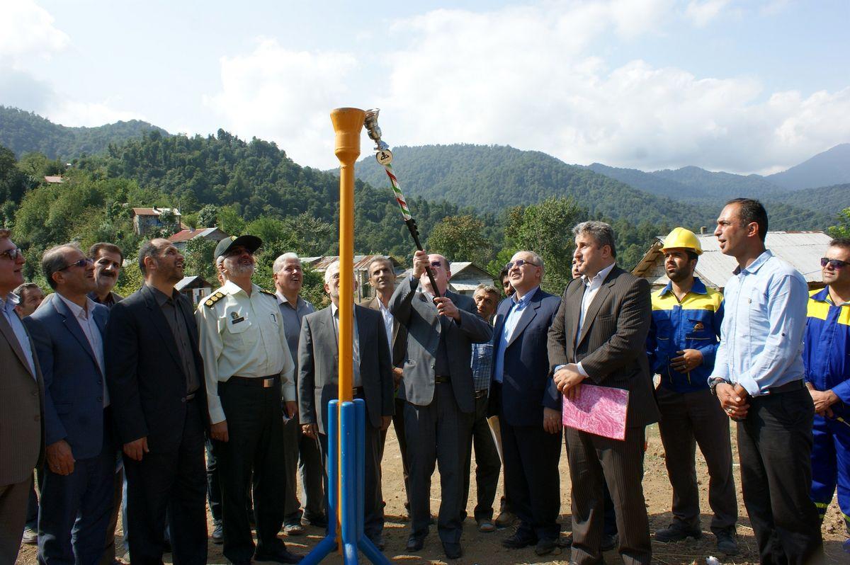 گازرسانی به سه روستای اطاقور شهرستان لنگرود