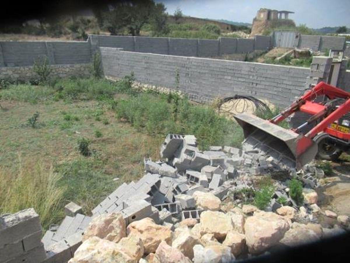 دیوارکشی غیرمجاز در بهشهر قلع و قمع شد