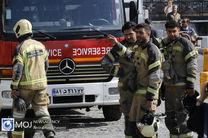 آتش سوزی در یکی از مجتمعهای تجاری خیابان لاله زار تهران