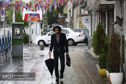 بارش باران بهاری در تهران