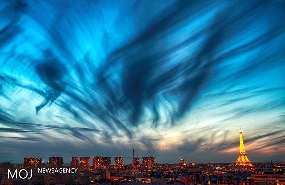 ابرهای «سیروس» بر فراز آسمان پاریس پیدا شده اند