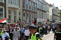برگزاری راهپیمایی روز قدس در مقابل دادگاه بینالمللی لاهه