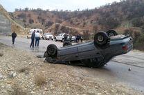 2 کشته و یک مجروح  در اثر واژگونی سواری پژو در محوراصفهان - شیراز