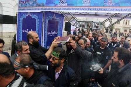 کاروان خدام العترت شهرداری رشت راهی کربلای معلی شد
