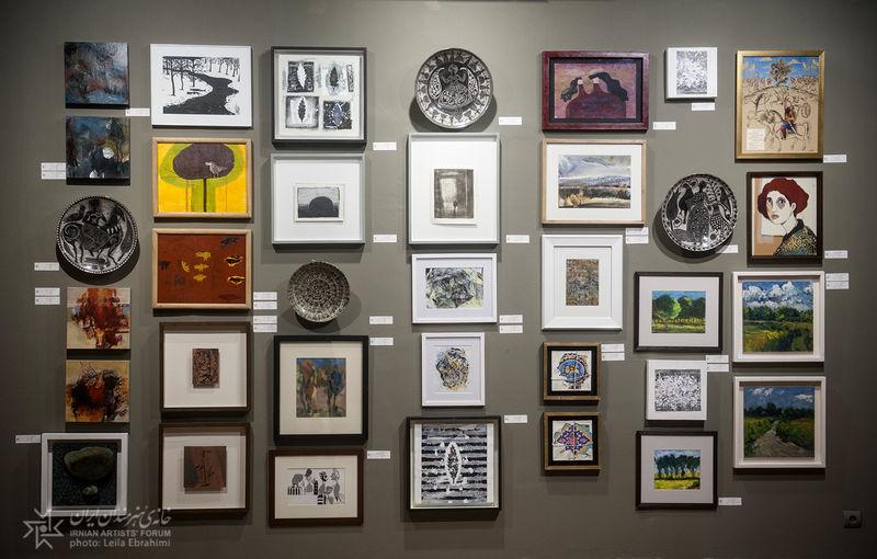 نمایشگاه سالانه خانه هنرمندان ایران همچنان ادامه دارد