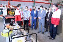 رونمایی از تجهیزات لجستیکی و امدادی جمعیت هلال احمر یزد با حضور استاندار