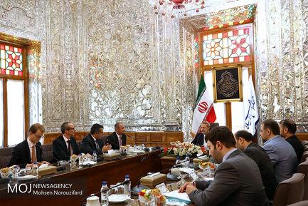 دیدار رییس کمیسیون سیاست خارجی مجلس اتریش با علی لاریجانی