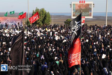 اجتماع مردم بندرعباس در پی شهادت سردار سلیمانی