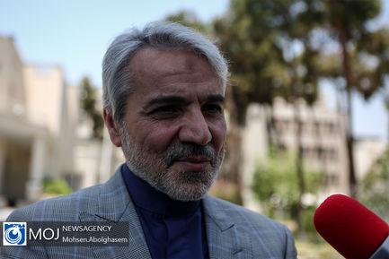 حاشیه جلسه هیات دولت - ۵ تیر ۱۳۹۸ /  محمد باقر نوبخت رییس سازمان برنامه و بودجه