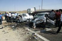 تصادف شدید پراید و پژو در جاده رشت- تهران
