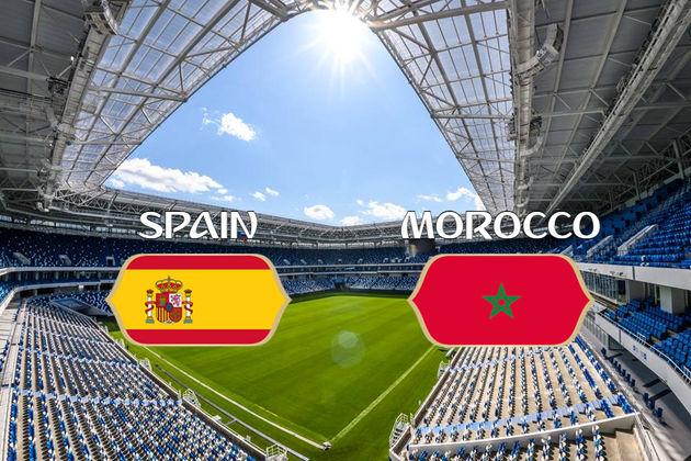ترکیب اصلی تیم ملی فوتبال اسپانیا و مراکش اعلام شد