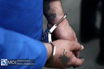 یکی از اراذل و اوباش محله پیروزی تهران دستگیر شد