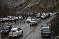 بارش باران در برخی محورهای استان های گیلان و مازندران
