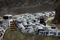 ترافیک سنگین در شمال به جنوب محور هراز