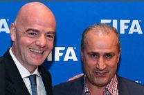 پیام تبریک رئیس فیفا به تاج