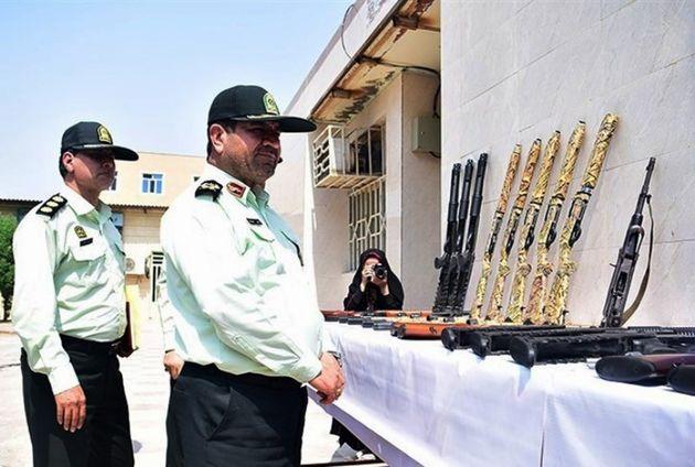 86  قبضه سلاح غیرمجاز در خوزستان کشف شد